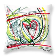 2010 Abstract Drawing Eighteen Throw Pillow