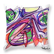 2010 Abstract Drawing Eleven Throw Pillow