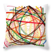 2010 Abstract Drawing Fifteen Throw Pillow