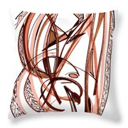 2010 Abstract Drawing Five Throw Pillow