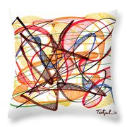 2010 Abstract Drawing Fourteen Throw Pillow