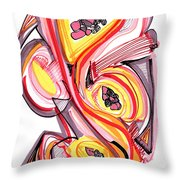 2010 Abstract Drawing Nine Throw Pillow