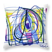 2010 Abstract Drawing Nineteen Throw Pillow