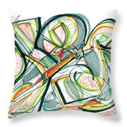 2010 Abstract Drawing Seventeen Throw Pillow