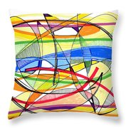 2010 Abstract Drawing Sixteen Throw Pillow