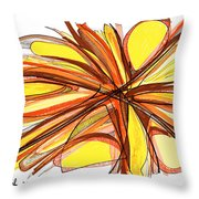 2010 Abstract Drawing Thirteen Throw Pillow