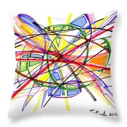 2010 Abstract Drawing Twelve Throw Pillow