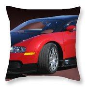 2010 Bugatti Veyron E. B. Sixteen Throw Pillow
