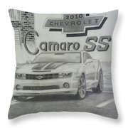 2010 Chevrolet Camaro Ss  Throw Pillow