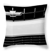2010 Chevrolet Nickey Camaro Ss Grille Emblem -0078bw Throw Pillow