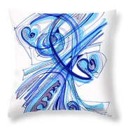 2010 Drawing Four Throw Pillow