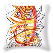 2010 Drawing Three Throw Pillow