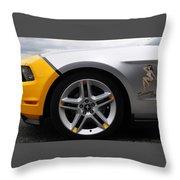 2010 Ford Mustang Av X10 2 Throw Pillow
