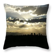 2010 June 4 Sunset Over Denver Throw Pillow