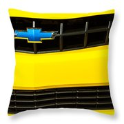 2010 Nickey Camaro Grille Emblem Throw Pillow