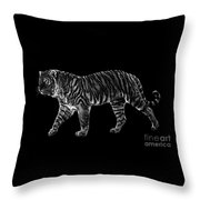 Tigers Gait Throw Pillow