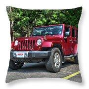 2011 Jeep Wrangler Throw Pillow