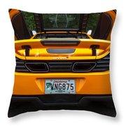 2012 Mc Laren Exhausts And Taillights Throw Pillow