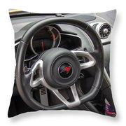 2012 Mc Laren Steering Wheel Throw Pillow
