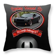 2013 Dodge Challenger Rt Wheeler Throw Pillow