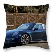 2014 Porsche 911 Targa 4s I Throw Pillow