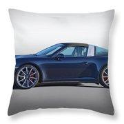 2014 Porsche 911 Targa 4s 'studio' Throw Pillow