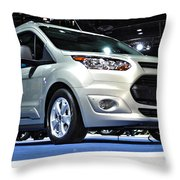 2014 Ford Transit Connect Wagon Throw Pillow