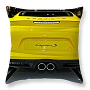 2014 Porsche Cayman S Number 2 Throw Pillow