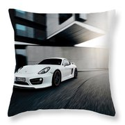 2014 Techart Porsche Cayman Throw Pillow