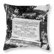201406030-016k Old Brick Church Head Stone Bw 3x2 Throw Pillow