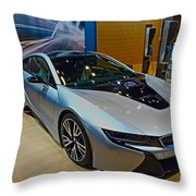 2015 Bmw I8 Hybrid Throw Pillow