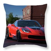 2015 Corvette Stingray  Throw Pillow