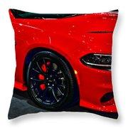 2015 Dodge Charger Srt Hellcat Throw Pillow