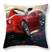 2015 Ferrari 599 Gtb Fiorano Throw Pillow