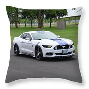2015 Ford Mustang Gt James Tami Throw Pillow
