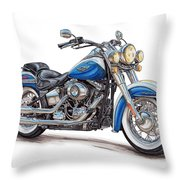 2015 Harley Softail Deluxe Throw Pillow