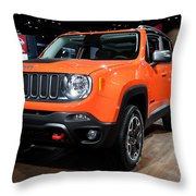 2015 Jeep Renegade Trailhawk Number 3 Throw Pillow