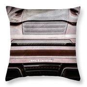 2015 Mclaren 650s Spider Rear Emblem -0011ac Throw Pillow