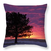 2015 New Year Sunset Throw Pillow
