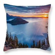 2015 Spring Sunrise From Discovery Point Throw Pillow