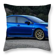 2015 Subaru Wrx Sti Throw Pillow