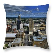 2015 View Of Court Street Throw Pillow