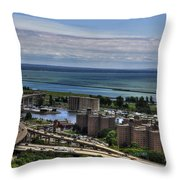 2015 View Of The Skyway And Harbor Throw Pillow