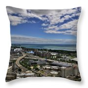 2015 View Of The Skyway  Throw Pillow