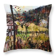 2015027 Hillside Pasture Srpsko Sarajevo Throw Pillow