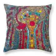 Red Willow Throw Pillow