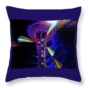 2016 At The Space Needle Throw Pillow