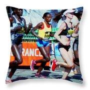 2016 Boston Marathon Winner 2 Throw Pillow