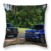 2016 Chevrolet Colorado Midnight Edition Trail Boss Throw Pillow