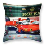 2016 Ferrari Sf16-h Vettel Monaco Gp  Throw Pillow